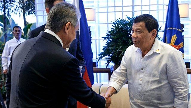Встреча министра обороны РФ Сергея Шойгу с президентом Филиппин Родриго Дутерте
