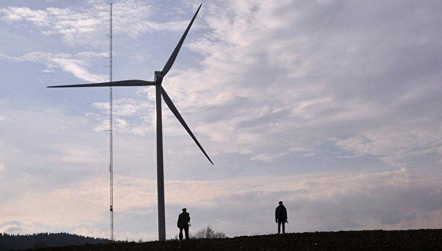 Ветряная электростанция. Архивное фото