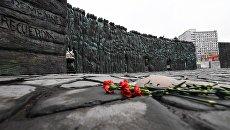 Монумент жертвам политических репрессий Стена скорби в Москве. Архивное фото