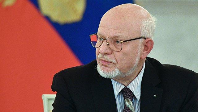 Председатель СПЧ Михаил Федотов на заседании совета. Архивное фото