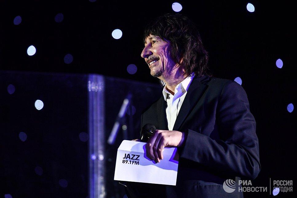 Музыкант группы А-Студио, композитор Байгали Серкебаев на церемонии вручения премии радио JAZZ 89.1 FM Все цвета джаза - 2017