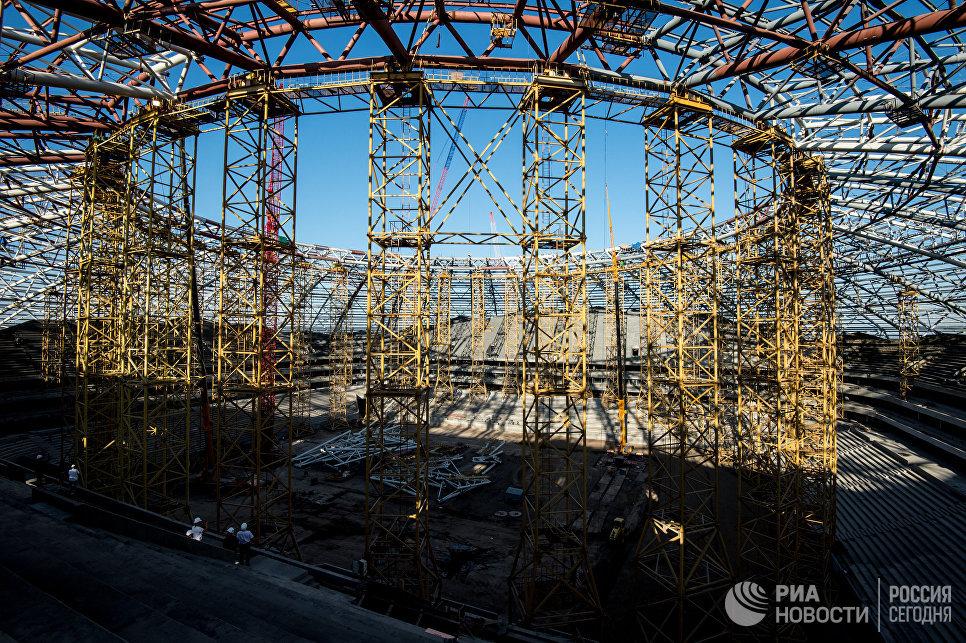 Строящийся стадион Самара Арена в Самаре
