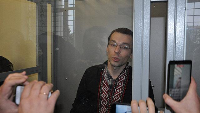 Журналист Василий Муравицкий в Королевском районном суде Житомира, Украина. Архивное фото