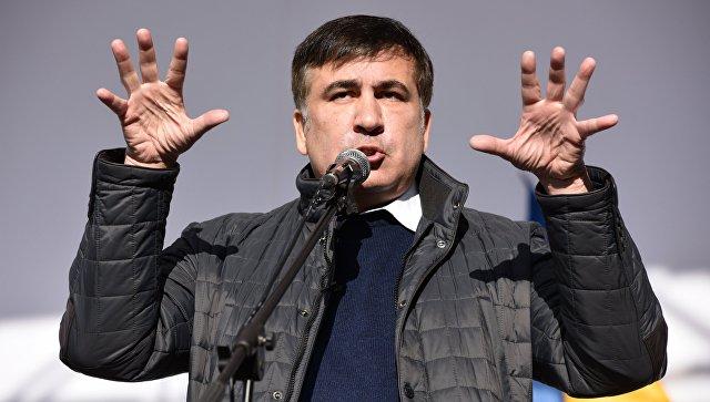 Сотни человек пришли кзданию Рады попризыву Саакашвили
