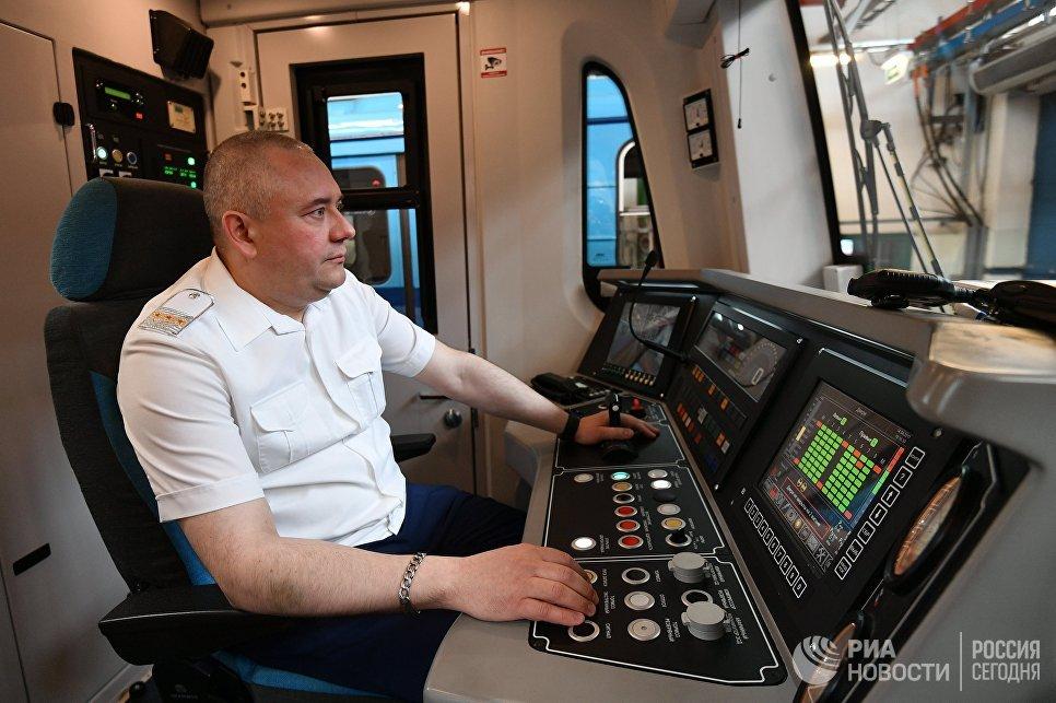 Во время запуска первых поездов Москва на Таганско-Краснопресненской линии московского метрополитена