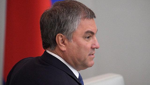 Володин рассказал работе ГД над законами против телефонного терроризма