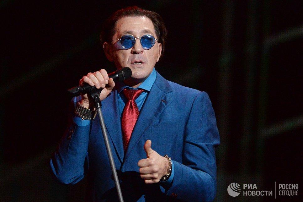 Певец Григорий Лепс на XXII церемонии вручения музыкальной премии Золотой Граммофон в Государственном Кремлёвском Дворце