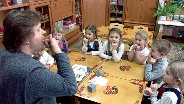 Занятия в логопедическом классе детского сада. Архивное фото
