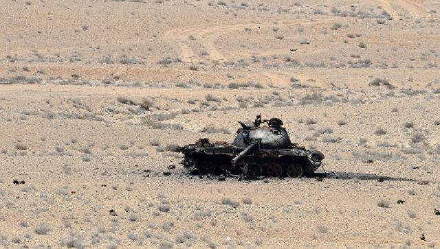 Подбитый танк в Сирии