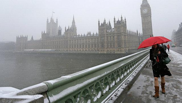Снегопад в Лондоне. Архивное фото