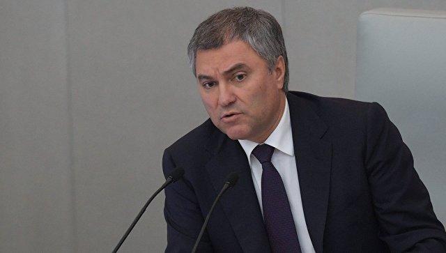 Председатель Государственной Думы РФ Вячеслав Володин на пленарном заседании. 15 ноября 2017