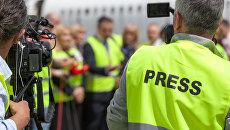 Журналисты за работой