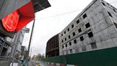 Реконструируемое здание театра Сатирикон имени Аркадия Райкина. 15 ноября 2017