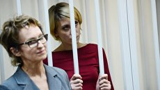 Ольга Алисова во время предварительных слушаний в Железнодорожном суде. 21 августа 2017