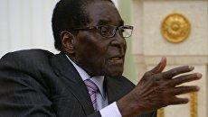 Президент Республики Зимбабве Роберт Мугабе. Архивное фото
