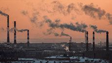 Трубы промышленных предприятий. Архивное фото