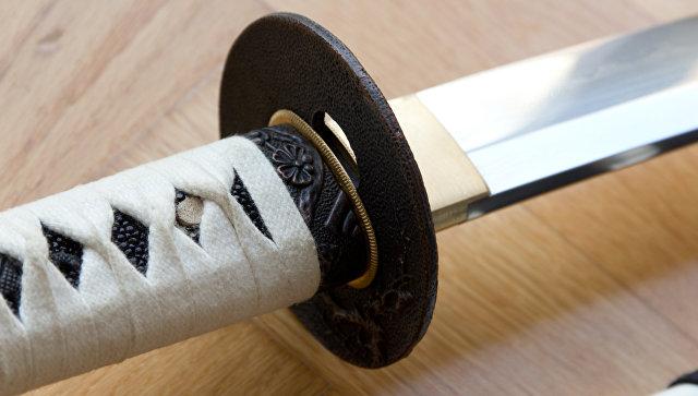 Самурайский меч катана. Архивное фото