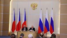 Президент РФ В. Путин встретился с президентом Чехии М. Земаном