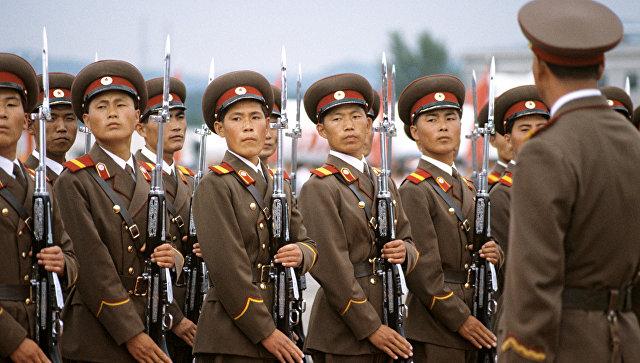 Рота почетного караула в аэропорту Пхеньяна. Архивное фото