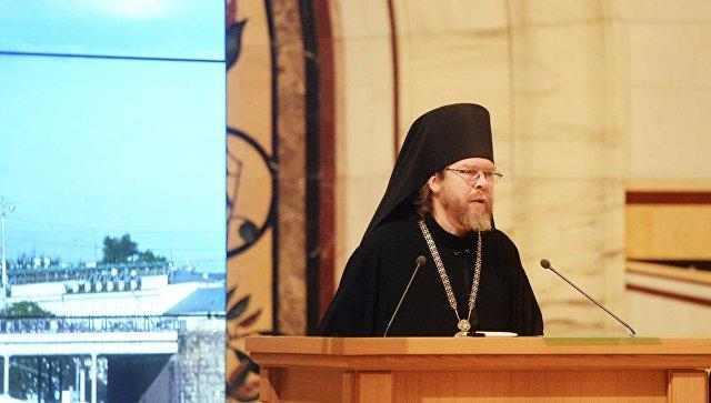 Епископ Егорьевский Тихон (Шевкунов) на заседании Архиерейского собора РПЦ