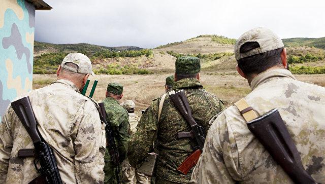 Военнослужащие во время учений в Южной Осетии. Архивное фото