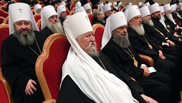 Заключительное торжественное заседание Архиерейского собора РПЦ