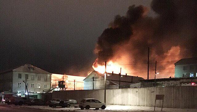 Пожар в колонии Белый лебедь в Соликамске. 5 декабря 2017