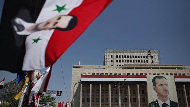 Портрет президента Башара Асада в Дамаске. Архивное фото