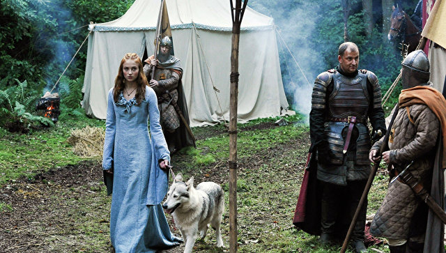 Кадр из сериала Игра престолов. Санса Старк