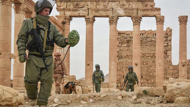 Саперы Международного противоминного центра Вооруженных сил РФ. Архивное фото