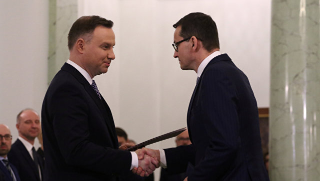 Новое руководство Польши воглаве сМоравецким принесло присягу