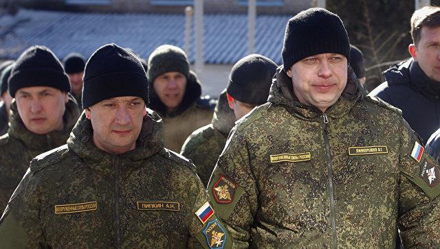 Российские военнослужащие СЦКК