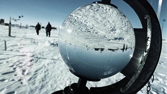 Научно-исследовательская станциия Восток в Антарктиде. Архивное фото
