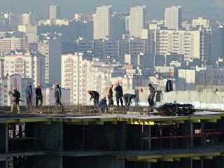 Строительство жилого квартала