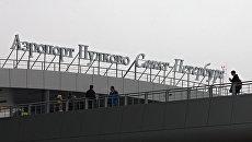 Терминал аэропорта Пулково в Санкт-Петербурге. Архивное фото