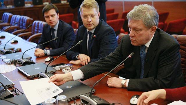 Григорий Явлинский перед подачей документов в ЦИК России по выдвижению кандидатом на президентских выборах в 2018 году. 22 декабря 2017