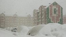Сильная метель на Сахалине, 26 декабря 2017 года