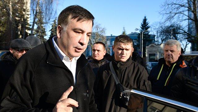 Бывший губернатор Одесской области Украины и лидер политической партии Рух нових сил Михаил Саакашвили отвечает на вопросы журналистов. 26 декабря 2017. Архивное фото