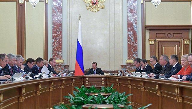 Председатель правительства РФ Дмитрий Медведев проводит заседание правительства РФ. Архивное фото