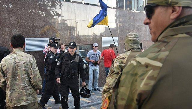 Акция протеста радикалов. Архивное фото