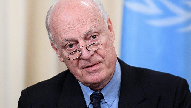 Специальный представитель Генерального секретаря ООН по Сирии Стаффан де Мистура. Архивное фото
