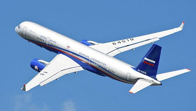 Российский самолет наблюдения Ту-214. Архивное фото