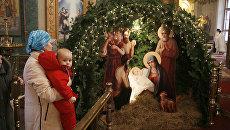 Рождественский вертеп в храме. Архивное фото