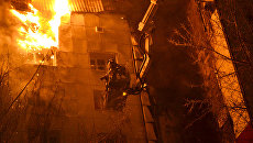 Пожар в доме в Тюмени. Архивное фото