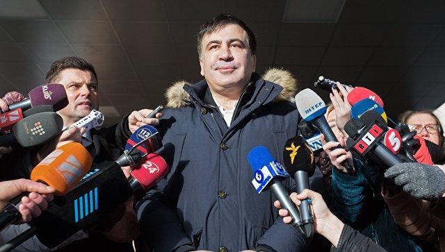 Михаил Саакашвили прибыл в офис управления Службы безопасности Украины в Киеве на допрос в рамках уголовного дела о содействии участникам