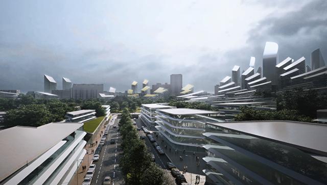Концепция площадки реновации в районе Кузьминки от Zaha Hadid architects