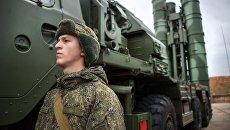 Комплекс ПВО С-400 Триумф на охране российских воздушных границ в Севастополе. Архивное фото
