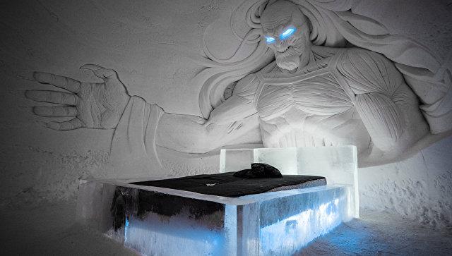 Комната отеля Snow Village по мотивам фильма Игра престолов в Лапландии. Архивное фото