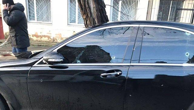 На месте перестрелки в Одессе. 19 января 2018