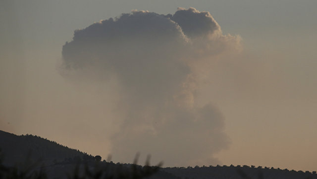 Начало операции Оливковая ветвь против сирийского курдского анклава Африн, на северо-западе Сирии. 20 января 2018